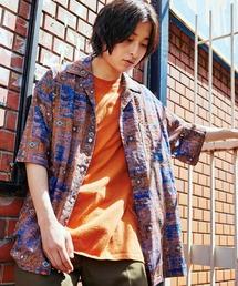 KANGOL/カンゴール 別注 ロゴ刺繍 ビッグシルエット 柄シャツ 総柄 オープンカラーシャツ アロハシャツ 2021SUMMERその他