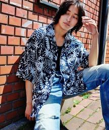KANGOL/カンゴール 別注 ロゴ刺繍 ビッグシルエット 柄シャツ 総柄 オープンカラーシャツ アロハシャツ 2021SUMMERブルー系その他4