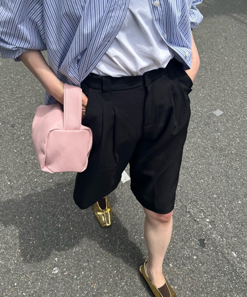 【chuclla】Georgette set-up half pants chw1541
