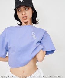 【MLB】刺繍ロゴTシャツパープル