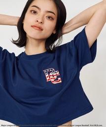 【MLB】刺繍ロゴTシャツネイビー