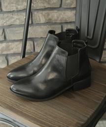 SESTO(セスト)のウッドヒールのショート丈のサイドゴアブーツ(ブーツ)