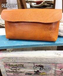 SNOOPY×OLD BETTY'S(スヌーピーカケルオールドベティーズ)のSNOOPY Leather Flap Wallet/スヌーピーレザーフラップウォレット(財布)