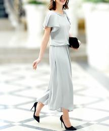 ab1a5f2dbcc RUIRUE BOUTIQUE(ルイルエ ブティック)の「ビジュー付ワイドパンツセットアップスーツ(ドレス