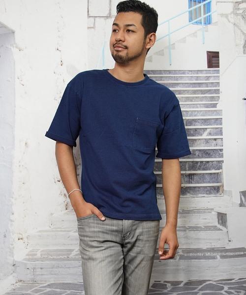 インディゴ半袖Tシャツ(IR)