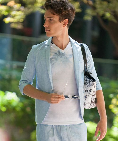 【セール】 STUDENT-LINEN(スチューデント リネン)リネン テーラードジャケット, クレスコ f292ee50