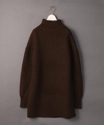 <6(ROKU)>RIB TURTLE NECK KNIT/ニット