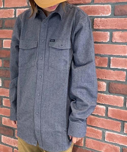 GREEN BOWL(グリーンボウル)の「MATIX Herringbone Shirts/マティックス ヘリンボーン シャツ(シャツ/ブラウス)」|グレー