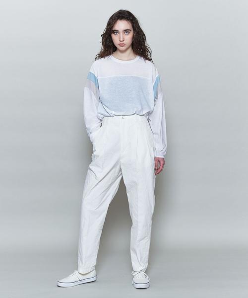 <6(ROKU)>COLOR LINE SLEEVE LONG SLEEVE T-SHIRT/Tシャツ