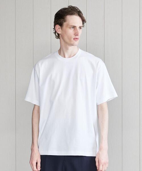 <H>COTTON CREW NECK T-SHIRT/Tシャツ