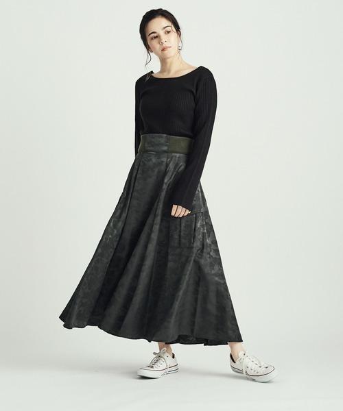 カモフラージュ柄スカート