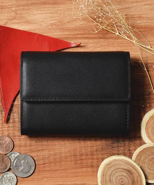 c80af94cc880 Add+(アッド)の「本革 レザーコンパクトミニウォレット 三つ折りミニ財布