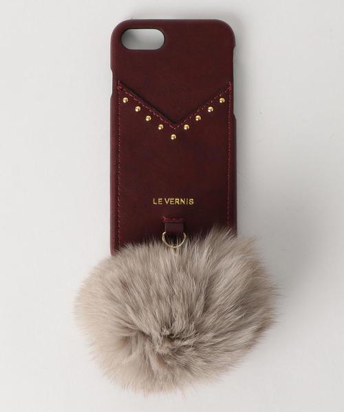 <Le Vernis> ポンポン iPhoneケース