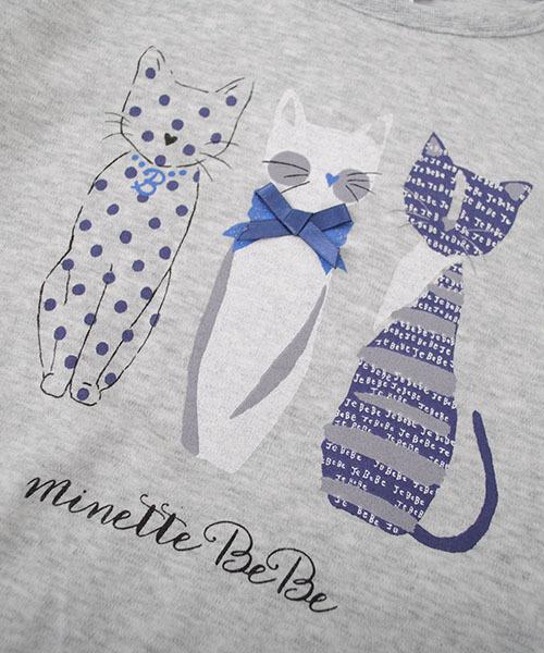 BeBe/ネコプリントTシャツ