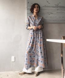 AMERI(アメリヴィンテージ)のTIE SHIRT DRESS(ワンピース)