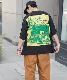 【BASQUE -enthusiastic design-】Mark Gonzales/マークゴンザレス BASQUE magenta 別注 スーパービッグシルエット 半袖Tee(背面プリント)ブラック系その他3
