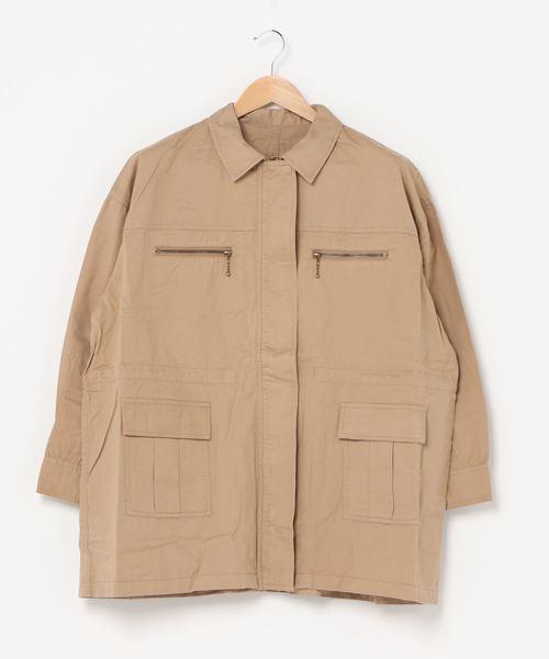 綿ツイルミリタリージャケット