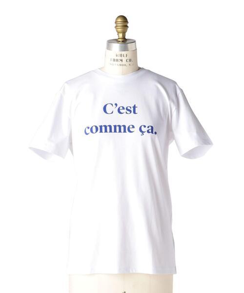 Drawer別注〈Les Petits Basics (ル・ベーシック)〉 Cest comme ca プリントTEE