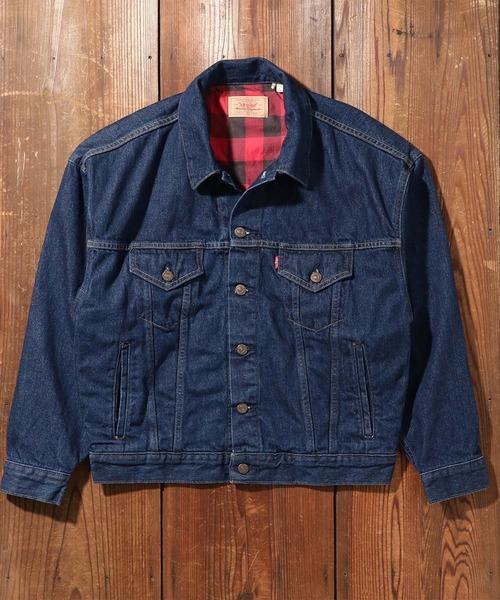 LEVI'S VINTAGE CLOTHING(リーバイスビンテージクロージング)の「LEVI'S(R) VINTAGE CLOTHING 80'S FLANNEL トラッカージャケット RINSE(デニムジャケット)」|ダークインディゴブルー