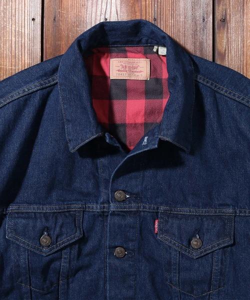 LEVI'S VINTAGE CLOTHING(リーバイスビンテージクロージング)の「LEVI'S(R) VINTAGE CLOTHING 80'S FLANNEL トラッカージャケット RINSE(デニムジャケット)」|詳細画像