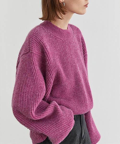 【Fano Studios】Wide silhouette rib knit FQ20S018