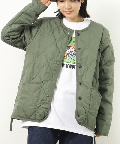 【 TAION / タイオン 】【UNISEX】ミリタリー クルーネック ダウンジャケット TAION-104BML-1 DON