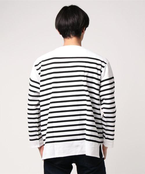 ORCIVAL / オーシバル:French Sailor T-Shirt (REGULAR):RC01-6101-WBK[STD]