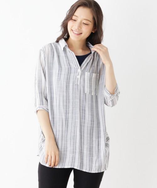 【2点セット】スキッパーシャツ+タンクトップ