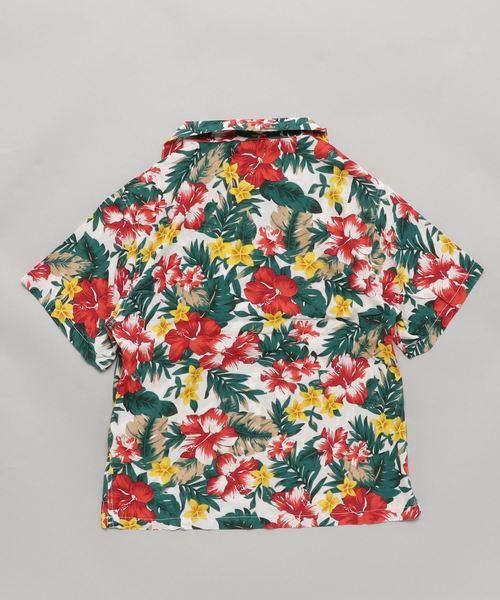 リゾート柄開襟シャツ