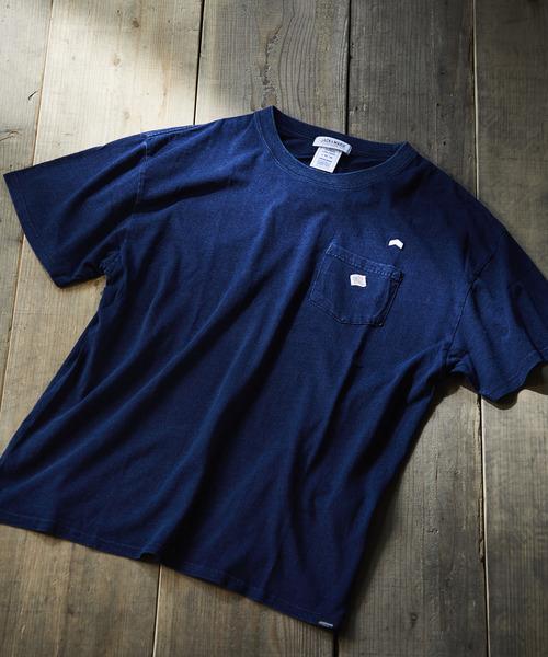 JACK & MARIE(ジャックアンドマリー)の「JEMORGAN × JACK & MARIE 半袖ポケットTシャツ インディゴ(Tシャツ/カットソー)」 ダークインディゴブルー