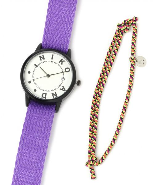 4915aa143e セール】ロープベルト付きメッシュウォッチ(腕時計)|niko and ...