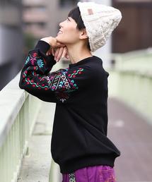 チチカカ(チチカカ)の裏毛ナバホクロス刺繍プルオーバー(Tシャツ/カットソー)