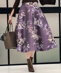 Andemiu(アンデミュウ)の【WEB限定】ゴブランフウフラワースカート 857599(スカート)