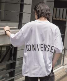【BASQUE -enthusiastic design-】別注 コンバースBIG半袖カットソー/背面BIGロゴホワイト