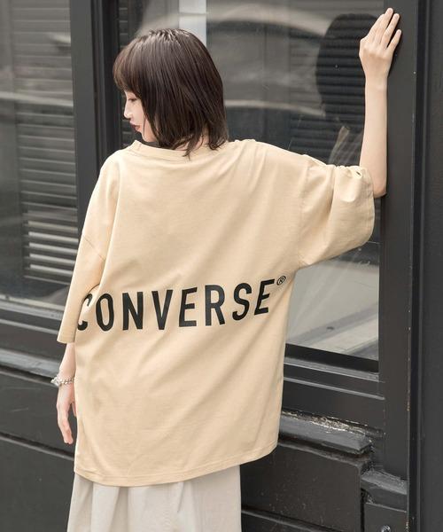 【BASQUE -enthusiastic design-】別注 コンバースBIG半袖カットソー/背面BIGロゴ