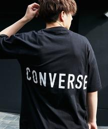 【BASQUE -enthusiastic design-】別注 コンバースBIG半袖カットソー/背面BIGロゴブラック