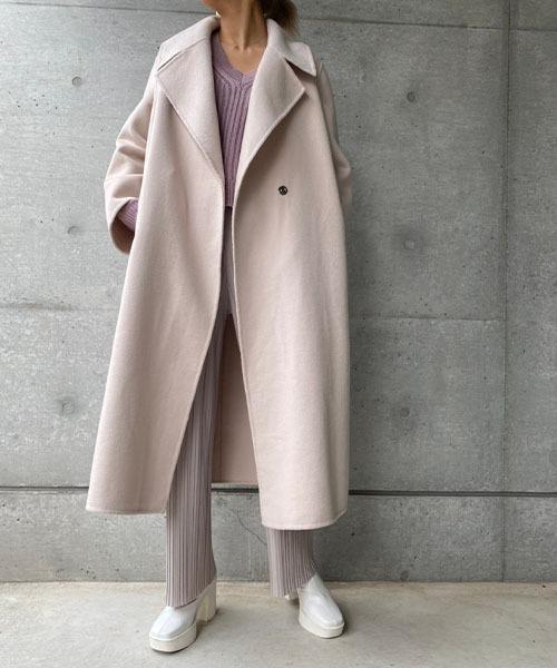 Natural wool coat
