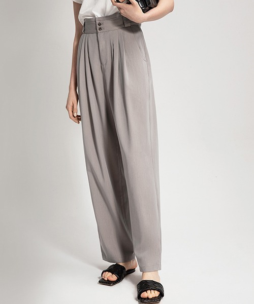 【chuclla】【2021/SS】High waist 3tack pants sb-4 chw1443