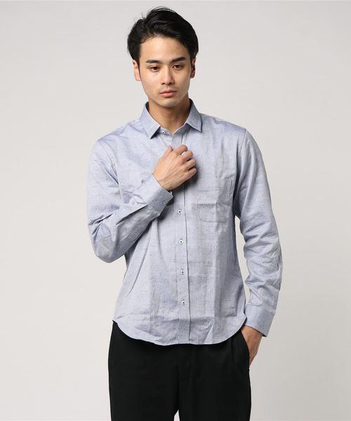 【週刊文春11月22日号】高橋克典さん着用 バード柄ジャガードシャツ