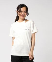 REDYAZEL(レディアゼル)の刺繍デコルテ見せTシャツ(Tシャツ/カットソー)