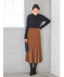 &. NOSTALGIA(アンドドットノスタルジア)の裾配色ニットスカート(スカート)