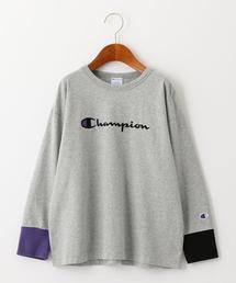 【ジュニア】〔別注〕CHAMPION(チャンピオン)マルチリブ ロングスリーブTシャツ