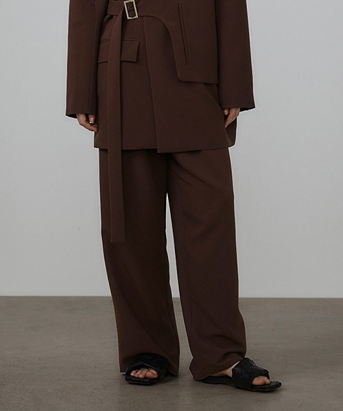 【UNSPOKEN】Asymmetrical design suit trousers UX21K023