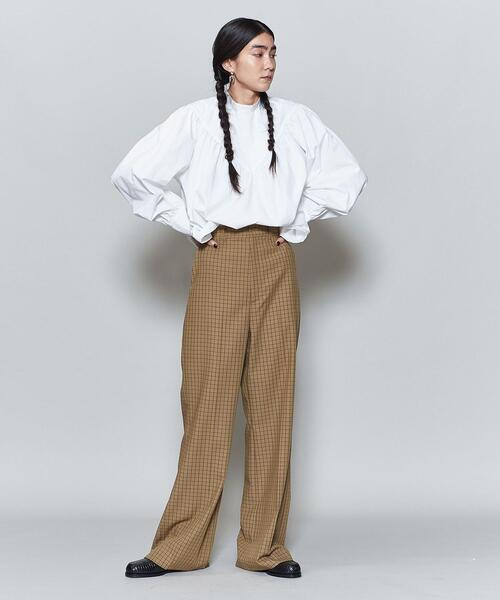 <6(ROKU)>CHECK SET UP PANTS/パンツ