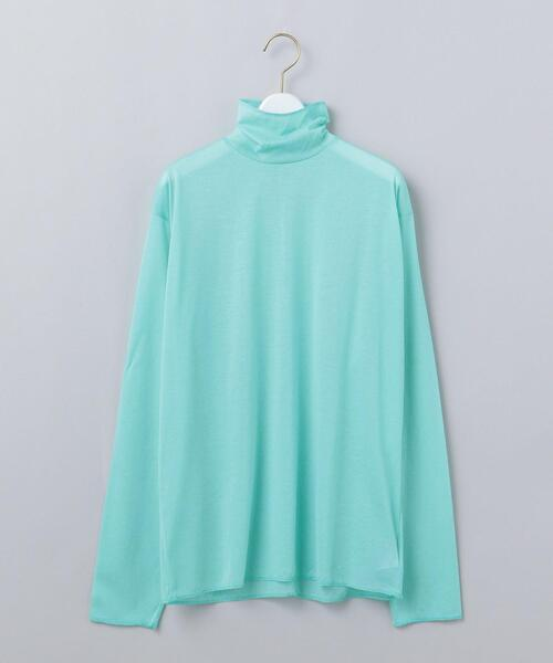 <6(ROKU)>SHEER TURTLE NECK PULLOVER/カットソー