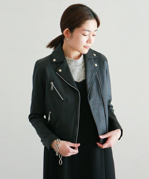 クラシック ラムレザー ライダースジャケット(ライダースジャケット)|NOMBRE IMPAIR,ノンブル IMPAIR(ノンブルアンペール)のファッション通販, 【一部予約!】:6d971ae2 --- blog.buypower.ng