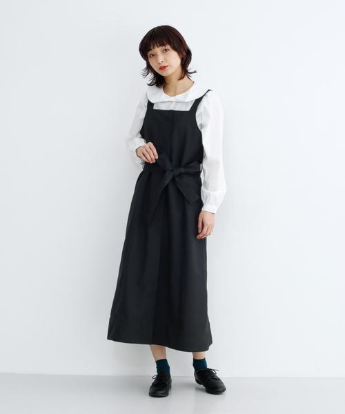 ウエストリボンジャンパースカート079-7190