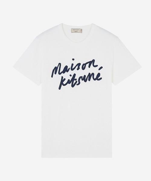 MAISON KITSUNE(メゾンキツネ)の「TEE-SHIRT HANDWRITING(Tシャツ/カットソー)」|ホワイト系その他
