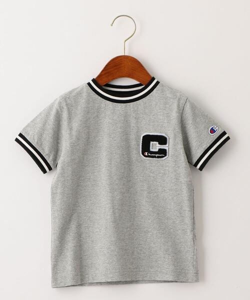 【キッズ】〔別注〕CHAMPION(チャンピオン)リンガーショートスリーブTシャツ