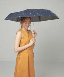 <HUS>プリント 折りたたみ日傘 晴雨兼用